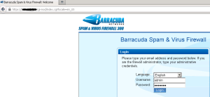 Login Barracuda SPAM applicane