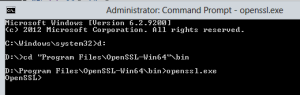 Start-up OpenSSL